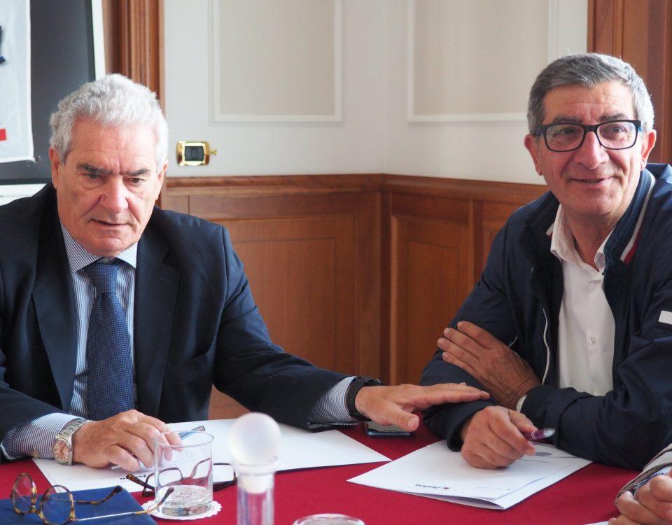 Segretari: Bruno Mariani e Andrea De Stasio in riunione (foto archivio)